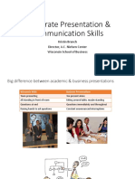Corporate Presentation Communication Skills Nov 2015