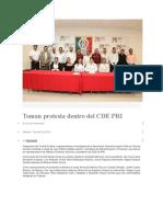 07-04-2018 Toman Protesta Dentro Del Cde Pri