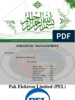 144620335 Strategic Management Project of PEL Pakistan