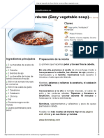 Hoja de Impresión de Sopa Fácil de Verduras (Easy Vegetable Soup)