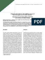 Adaptación Del Modelo de Vulnerabilidad Costera en El Litoral Tabasqueño Frente Al Cambio Climatico