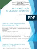 Fundamentos Teóricos de La Educación a Distancia