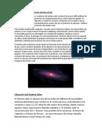 Formación y Evolución Del Sistema Solar