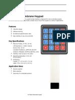 4 x 4 Matrix Membrane Keypad