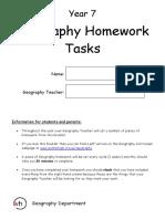 Geography Homework Ideas