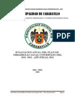 INFORME DE EVALUACION DEL PLAN DE DESARROLLO LOCAL CONCERTADO 2012 - 2021