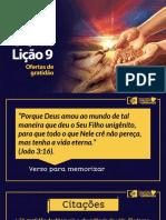 Licao9 Ofertas de Gratidao