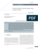 Moisture Content of Natural Gases