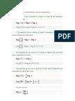 propiedades logaritmos