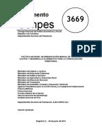 CONPES 3669 Erradicacion de Cultivos
