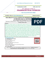 SOLUBILITY EVALUATIONS OF OSIMERTINIB MESYLATE IN PHYSIOLOGICAL BUFFERS