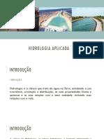 Aula 1 - Introdução e Ciclo Hidrológico