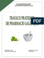 Polycopié TP Pharmacie Galénique