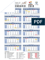 CALENDÁRIO 2018 Psf II Empréstimos Walfrido