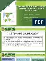 Codificación Pfafstetter Rio Lulo