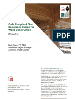 Code Compliant Fire-Resistance Design for Wood Construction