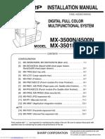 Mx 4501n Color Laser Allinone