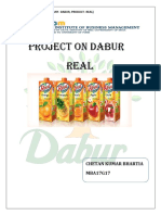 Project on Dabur Real