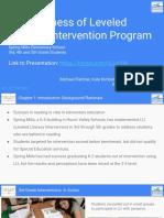 lli intervention - symposium slide deck - may 5th 2018 - fletcher kimball mitchell  1