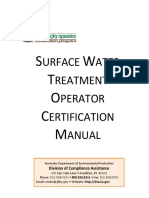 Surface Water Treatment Operator Certification Manual