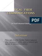 Optic Fiber Communications