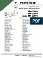 Parts Guide MX-7000