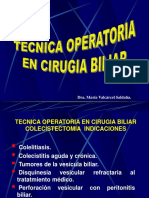 07 Tecnica Operatoria en Cirugia Biliar