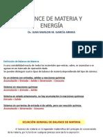 Clase 2 Balance de Materia y Energia PDF