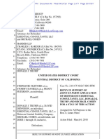 Ex Parte Application for Stay - Reply