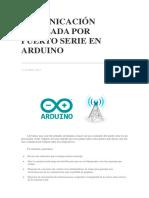 Comunicación Avanzada Por Puerto Serie en Arduino