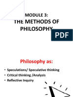 Module 3 Methods of Philosophy