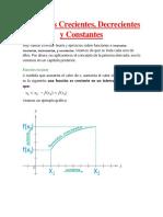 Funciones Crecientes, Decrecientes y Constantes