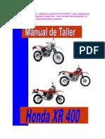 Honda XR 400 Manual de Taller
