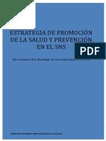 EstrategiaPromocionSaludyPrevencionSNS 2013