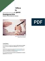 Cómo Se Certifica Una Traducción Para Inmigración