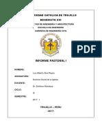 Informe Pastoral 1 Luis Alva Reyes Ing Civil