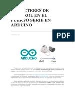 Caracteres de Control en El Puerto Serie en Arduino