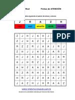 Coleccion Estimulacion Cognitiva NIVEL MEDIO Seguir Patron Colores 1 LETRAS 5