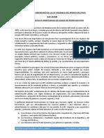 Breve Analisis y Comentario de La Ley Organica Del Poder Ejecutivo