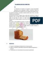 Elaboracion de Panetones
