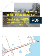 Brad Sinclair presentation on County Road 14 speeding