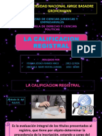 La Calificacion Registral