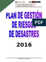 Plan de Gestión de Riesgos de Desastres