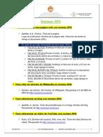 Instrucciones a Seguir de Las Normas APA a Las Que Recurri