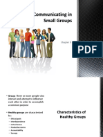 chapter 9 ppt communicating in small groups
