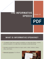 chapter 15 ppt the informative speech