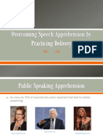 overcoming speech apprehension by practicing delivery ppt