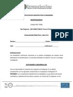 Ev. Practica Investigación III 1-2018