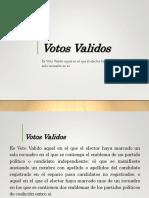 Votos Validos