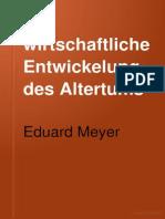 Eduard Meyer - Die Wirtschaftliche Entwicklung Des Altertums.1895